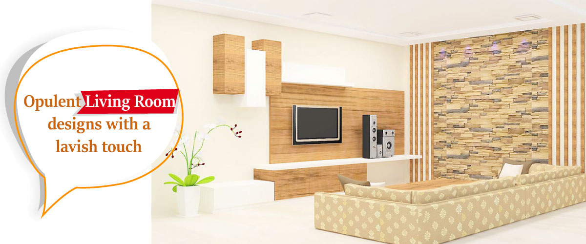 Living Room Interior for 3 BHK Apartment