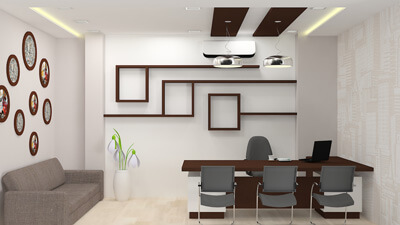 Office Building Interior Design. Modern Office Cabin Interior Design For  Organized Work Environment Building