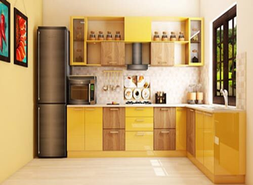Modular L Shaped Kitchens Are Efficient And Facilitate A Practical Work  Triangle. Living Room Interior Design ...