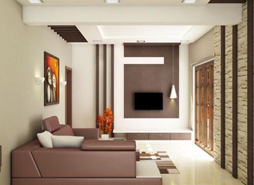 Delightful Living Room Interior Design In Bangalore