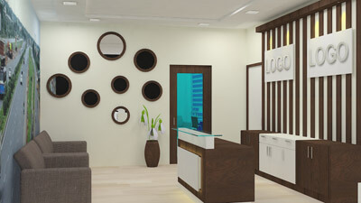 reception design for office in banaglore
